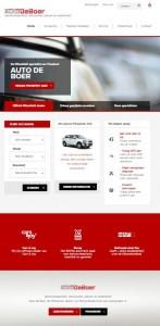 Vernieuwde website AutodeBoer door Friks
